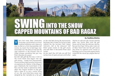 Golf in Grand Resort Bad Ragaz – Golf Plus October 2015